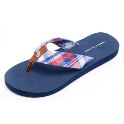 Tommy Hilfiger Womens Cremes Flip Flops