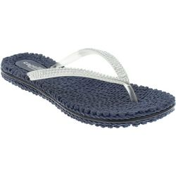 Capelli Womens Rhinestone Thong Jelly Flip Flops