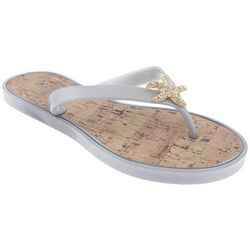 Capelli Womens Jelly Starfish Cork Flip Flops