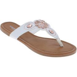 Capelli Womens Gem Thong Flip Flops