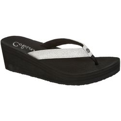 Cobian Womens Grace Wedge Flip Flops