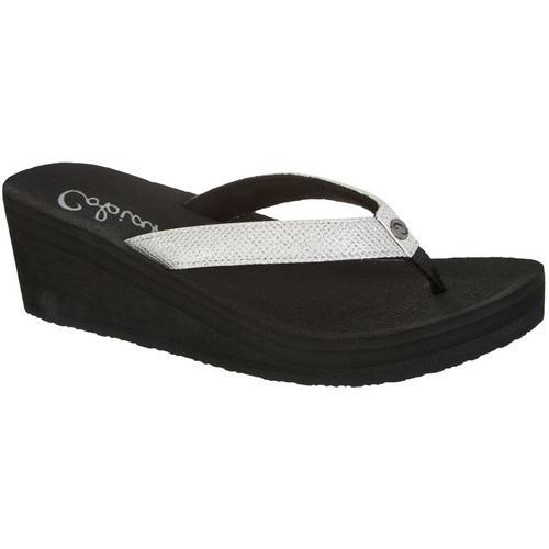 9275771bc47714 Cobian Womens Grace Wedge Flip Flops