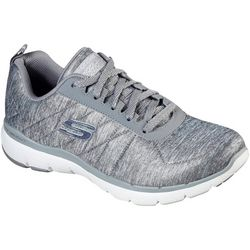 Skechers Womens Flex Appeal 3.0 Metal Task Shoes