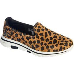 Womens GOWalk 5 Feisty Leopard Shoes