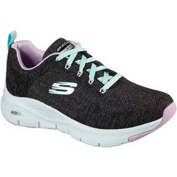 Skechers Womens Arch Fit Comy Wavy Walking Shoes