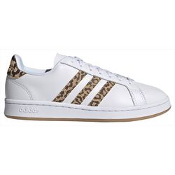 Adidas Womens Grand Court Animal Print Shoes