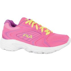 Fila Womens Memory Pacesster Slip Resistant Athletic Shoes