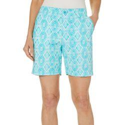 Caribbean Joe Womens Geometric Print Shorts