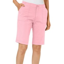 Caribbean Joe Womens Solid Bermuda Shorts