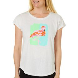Caribbean Joe Womens Flamingo Top