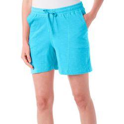 Caribbean Joe Womens Pull On Drawsting Waist Shorts