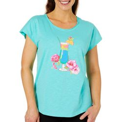 Caribbean Joe Womens Tropical Happy Hour Top