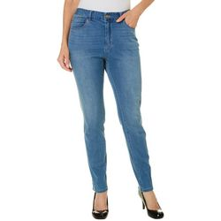 Caribbean Joe Womens Faded Denim Jeans