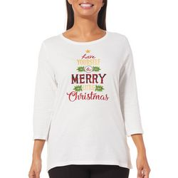 Caribbean Joe Womens Have Merry Little Christmas Top