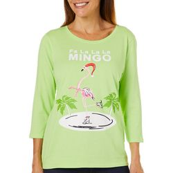 Caribbean Joe Womens Fa La La La Mingo Top