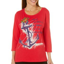 Caribbean Joe Womens Have Sandy Little Christmas Top