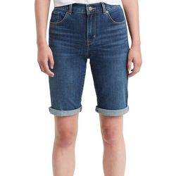 Levi's Womens Faded Roll Cuff Bermuda Shorts