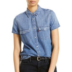 Levi's Womens Larissa Denim Short Sleeve Top