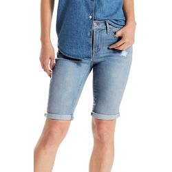 Levi's Womens Distressed Roll Cuff Bermuda Shorts