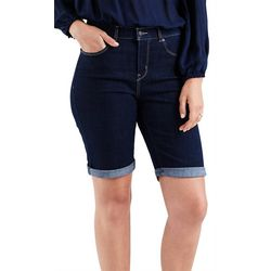 Levi's Womens Denim Roll Cuff Bermuda Shorts