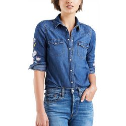 Levi's Womens Ultimate Embroidered Western Denim Shirt