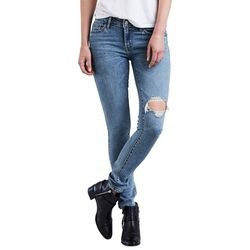 Levi's Womens 711 Destructed Skinny Jeans