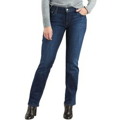 Levi's Womens 505 Straight Leg Solid Jeans