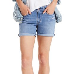 Levi's Womens Roll Cuff Denim Shorts