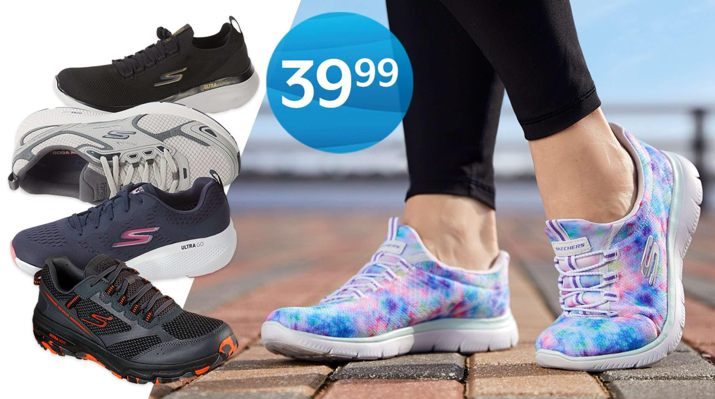 39.99 Skechers athletic shoes for men & women