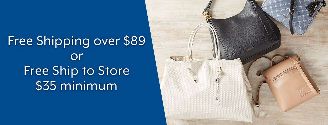 Free Shipping over $89 or Free Ship to Store no minimum
