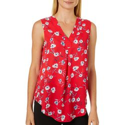 Nue Options Womens Floral Garden Sleeveless Top