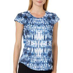 Nue Options Womens Tie Dye Cap Sleeve Top