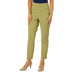 Nue Options Womens Solid Skinny Leg Stretch Pull On Pants