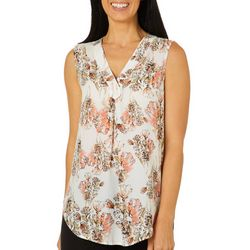 Nue Options Womens Garden Floral Sleeveless Top