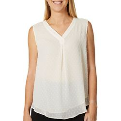 Nue Options Womens Clip Dot Sleeveless Top