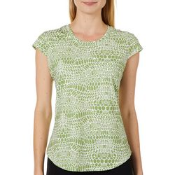Nue Options Womens Day to Night Snakeskin Cap Sleeve Top