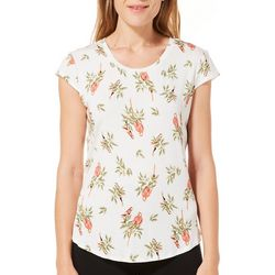 Nue Options Womens Parrot Cap Sleeve Top