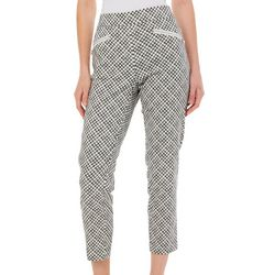 Nue Options Womens Checkered Zip Pocket Pull On Pants