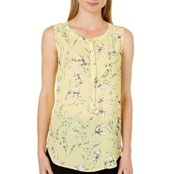 Nue Options Womens Falling Floral Sleeveless Top