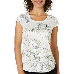 Nue Options Womens Paisley Flowers Day To Night Top
