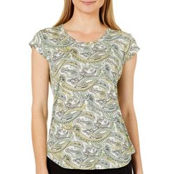 Nue Options Womens Paisley Scroll Day To Night Top