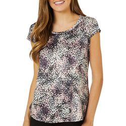 Nue Options Womens Day to Night Confetti Cap Sleeve Top