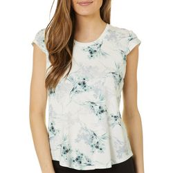 Nue Options Womens Day to Night Botanical Floral Print Top