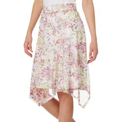 Nue Options Womens Leaf Flare Pull On Skirt