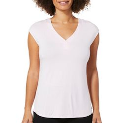 Nue Options Womens Solid V-Neck Tank Top