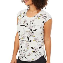 Nue Options Womens Magnolia Blossom Day To Night Top