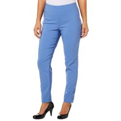 Nue Options Womens Lace-Up Hem Pull On Pants