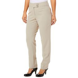 Nue Options Womens Solid Slim Fit Pants