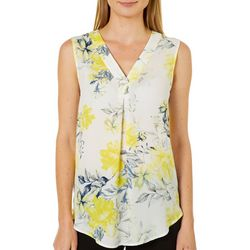 Nue Options Womens Bogota Blooming Floral Sleeveless Top
