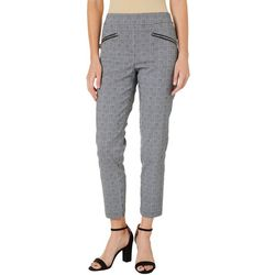 Nue Options Womens Plaid Pull On Pants